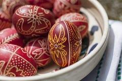 Традиционные пасхальные яйца Стоковое Изображение RF
