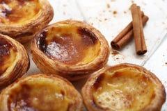 Традиционные португальские торты - cream торт Стоковая Фотография