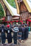 Традиционные похороны в Tana Toraja Стоковые Фотографии RF