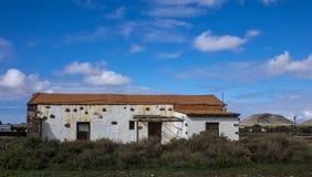 Традиционные руины в Канарских островах Испании Oliva Фуэртевентуры Las Palmas Ла Стоковое Изображение RF