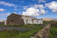 Традиционные руины и стена в Канарских островах Испании Oliva Фуэртевентуры Las Palmas Ла Стоковая Фотография RF