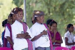 Традиционные руководители в Восточном Тиморе Стоковые Изображения RF