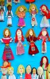 Традиционные румынские куклы деревянных ложек Стоковые Изображения RF