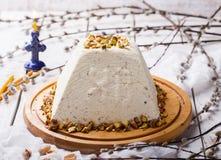 Традиционные русские правоверные десерты пасхи Стоковые Изображения RF