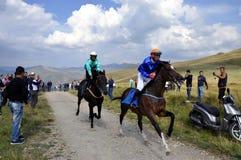 Традиционные скачки, Restelica, Косово Стоковые Изображения RF