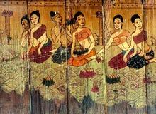 Традиционные тайские рассказы искусства стиля Стоковые Изображения