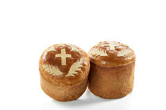 Традиционные торты пасхи изолированные на белизне Стоковые Фото