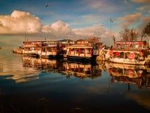 Традиционные турецкие рестораны рыб Стоковые Изображения