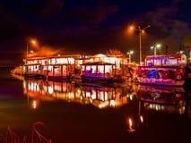 Традиционные турецкие рестораны рыб Стоковые Изображения RF