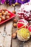 Традиционные украшения рождества Стоковая Фотография