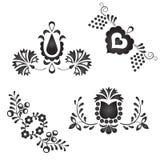 Традиционные фольклорные орнаменты иллюстрация штока