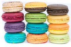 Традиционные французские цветастые macaroons  Стоковые Изображения RF