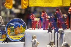 Традиционные шведские сувениры стоковые изображения rf