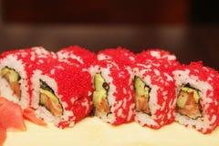 Традиционные японские суши крена еды Стоковые Фото