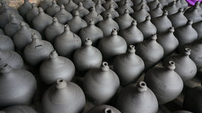 Традиционные potteries глины стоковое фото