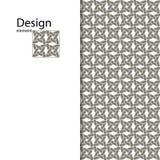 Традиционный арабский безшовный орнамент вектор Справочная информация Стоковое Изображение RF