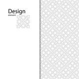Традиционный арабский безшовный орнамент Геометрическая картина безшовная для вашего дизайна Стоковые Фотографии RF
