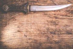 Традиционный арабский нож Стоковое фото RF
