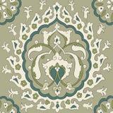 Традиционный арабский орнамент безшовный флористическая орнаментальная картина Iznik вектор Справочная информация Стоковое Изображение