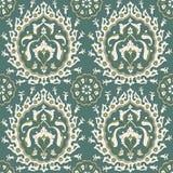 Традиционный арабский орнамент безшовный флористическая орнаментальная картина Iznik вектор Справочная информация Стоковые Изображения RF