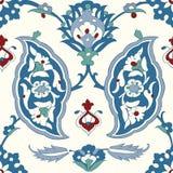 Традиционный арабский орнамент безшовный флористическая орнаментальная картина Iznik вектор Справочная информация Стоковое фото RF