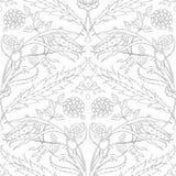 Традиционный арабский орнамент безшовный флористическая орнаментальная картина Iznik вектор Справочная информация Стоковая Фотография RF