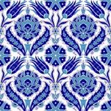 Традиционный арабский орнамент безшовный для вашего дизайна Обои настольного компьютера Справочная информация Iznik иллюстрация штока