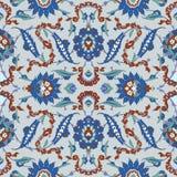 Традиционный арабский орнамент безшовный для вашего дизайна Обои настольного компьютера Справочная информация Iznik Стоковые Фото