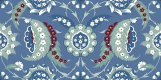Традиционный арабский орнамент безшовный для вашего дизайна Обои настольного компьютера Справочная информация Iznik Стоковое Фото
