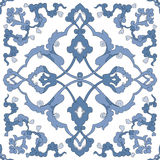 Традиционный арабский орнамент безшовный для вашего дизайна Обои настольного компьютера Справочная информация Iznik Стоковое Изображение
