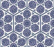 Традиционный арабский орнамент безшовный для вашего дизайна Обои настольного компьютера Справочная информация Iznik Стоковые Фотографии RF