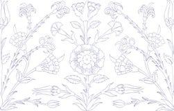 Традиционный арабский орнамент безшовный для вашего дизайна Обои настольного компьютера Справочная информация Iznik Стоковые Изображения