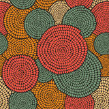 Традиционный африканский орнамент с свирлями Безшовная скороговорка вектора Стоковое Изображение