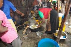 Традиционный африканский ресторан стоковое фото