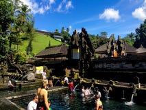 Традиционный балийский висок в святой воде Tampak Siring Стоковое Фото
