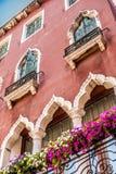 Традиционный венецианский фасад Стоковое Фото