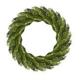 Традиционный венок елевых ветвей для украшения рождества Стоковые Изображения RF
