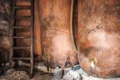 Традиционный винный погреб с несется плохое состояние Стоковые Изображения RF