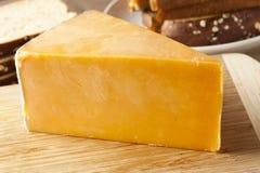 Традиционный желтый сыр чеддера Стоковые Фото