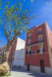 Традиционный жилой жилой дом в красном цвете, Трапани, Сицилия Стоковые Фотографии RF