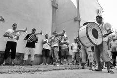 Традиционный диапазон трубы в Сербии Фестиваль трубы Guca Стоковая Фотография