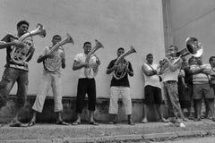 Традиционный диапазон трубы в Сербии Фестиваль трубы Guca Стоковое Изображение RF