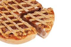 Традиционный изолированный яблочный пирог Стоковое Изображение