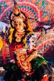 Традиционный индийский танец получает вверх Стоковое Изображение
