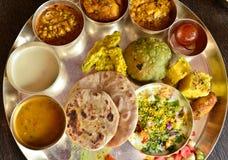 Традиционный индийский vegeterian диск Стоковая Фотография RF