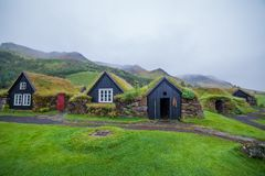 Традиционный исландский дом Стоковое Фото