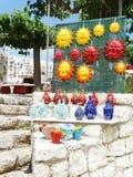 Традиционный керамический магазин сувениров Крит Греция Стоковое Изображение RF
