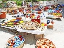 Традиционный керамический магазин сувениров Крит Греция Стоковое Изображение