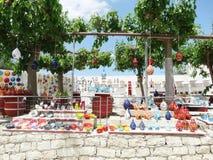 Традиционный керамический магазин сувениров Крит Греция Стоковые Фото