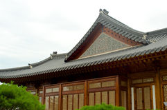 Традиционный корейский дом в лете, Южной Корее Стоковые Изображения RF